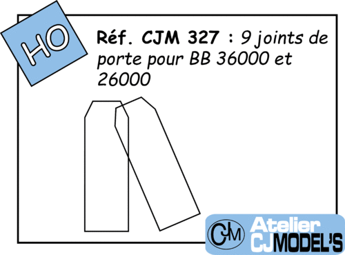 CJM 327 : Joints de portes BB 36000 Jouef