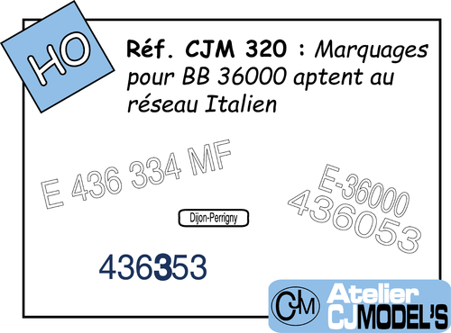 CJM 320 : Immatriculations pour BB 436300