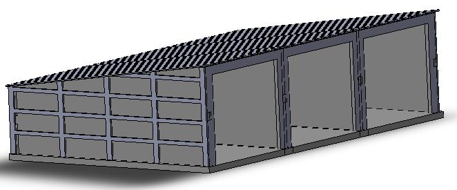 Cjm 503 garage pr fabriqu triple for Petit garage prefabrique